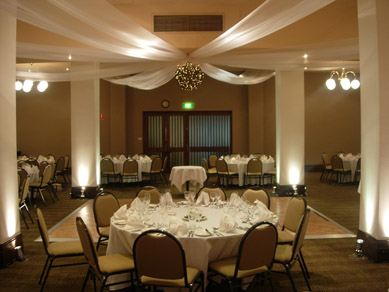 Mercure Grosvenor Draping with Bud Light Ball & Uplighting