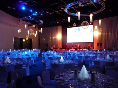 Adelaide Convention Centre Bud Light Balls & Fabric Lanterns 2