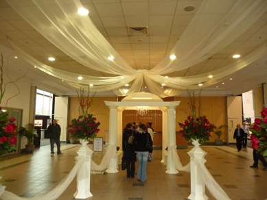 Ridley Pavilion Draping & Chandelier 2