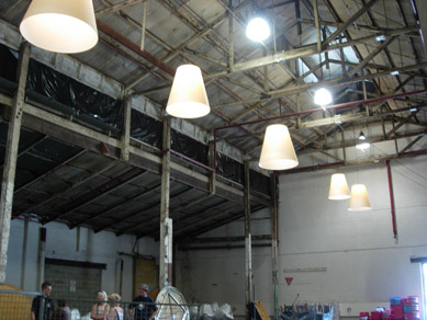 Queens Theatre - Before with Cone Pendants