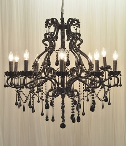 Chandelier Black Crystal 10arm