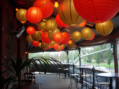 Red & Gold Paper Lanterns