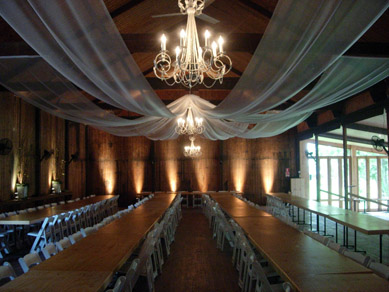 Glen Ewin After with Draping French White Chandeliers & spotlights