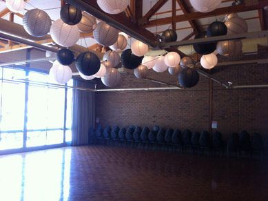 White, Black & SIlver Paper Lanterns